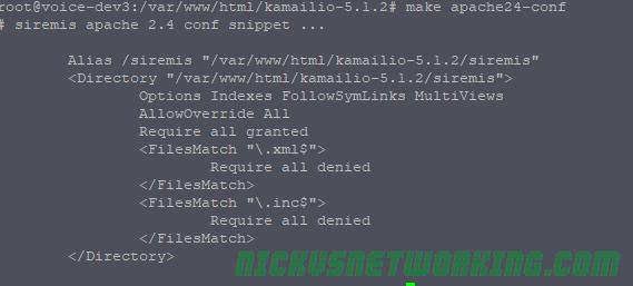 Kamailio Bytes – Siremis Installation – Nick vs Networking