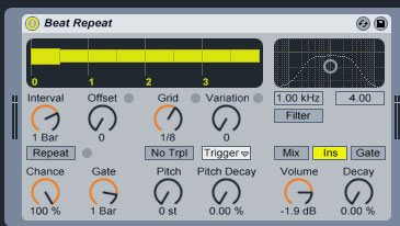 Ableton's Beat Repeat effect
