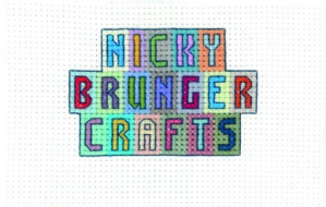 an image of the cross stitched logo for Nicky Brunger Crafts