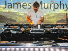 James Murphy of LCD Soundsystem spinning on the S.S. Coachella