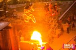 5050 Skatepark BMX bike riders & Fire Breathers perfrom at The Girls & Boys stage at BangOn!NYC's Elements Festival