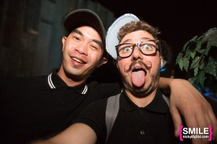 Alex English & Nicky Digital backstage at The Girls & Boys stage at BangOn!NYC's Elements Festival