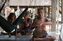 Laotian family in Ratanakiri, 2012
