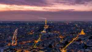 Paris aerial view of Eiffel tower - Photo by Nico Babot