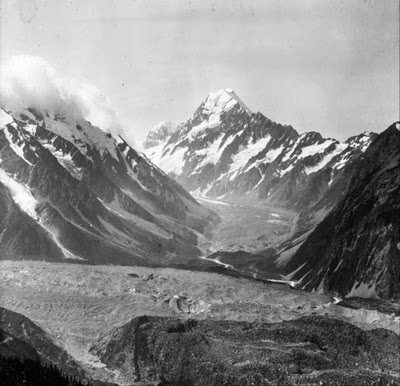 The south face of Aoraki Mount Cook - Photo by Ebenezer Teichelmann - Taken 1905.