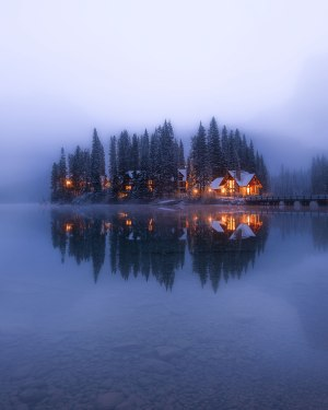 Foggy morning at Emerald lake Canada photo by Nico Babot