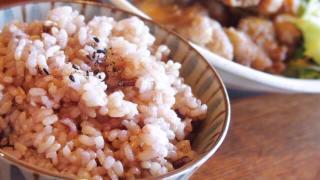 五穀米を中心としたバランスの良い食事
