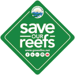 Safe Our Reefs GreenFins.Net Logo