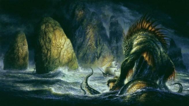 Painting: Lovecraft Cthulu