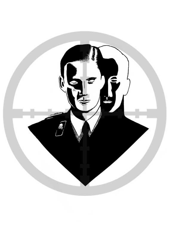 alternative illustration stephane allix dreams Alexander Hermann second world war life after death in black and white