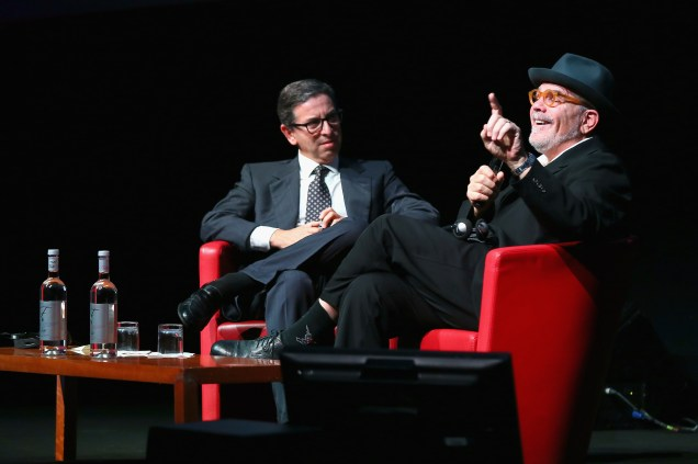 ROME, ITALY - OCTOBER 18: Antonio Monda and David Mamet meet the audience during the 11th Rome Film Festival at Auditorium Parco Della Musica on October 18, 2016 in Rome, Italy. (Photo by Ernesto Ruscio/Getty Images) *** Local Caption *** Antonio Monda;David Mamet