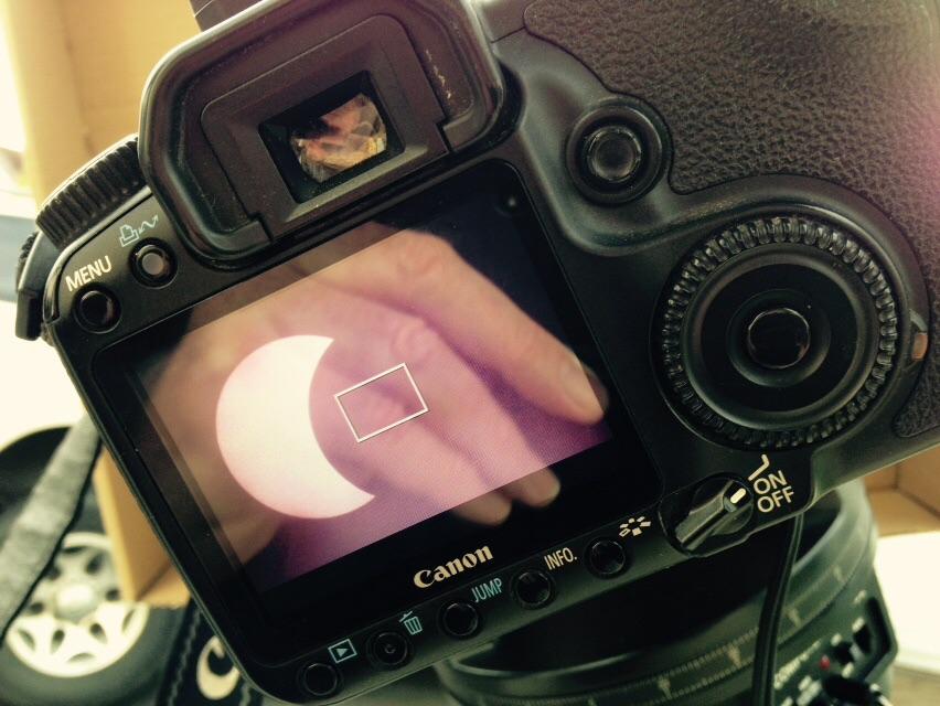 Partial solar eclipse on March 20 2015. Pic copyright @lenadamastro