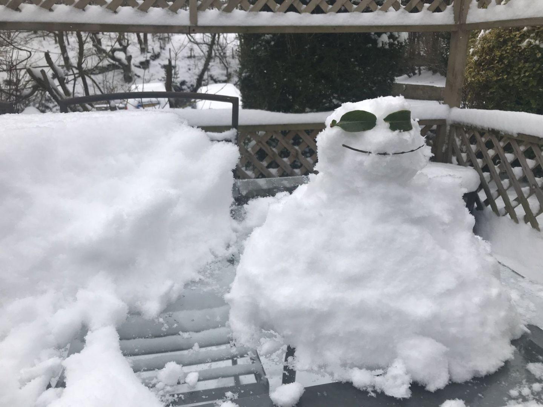 I wanna build a snowman (I did) Pic @jabberingjourno