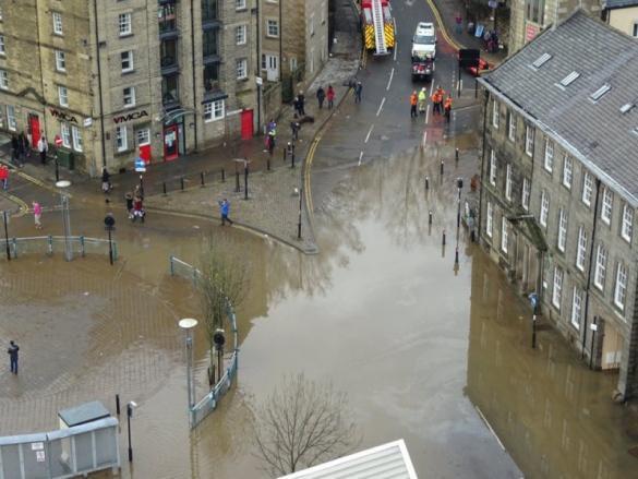 Lancaster under water