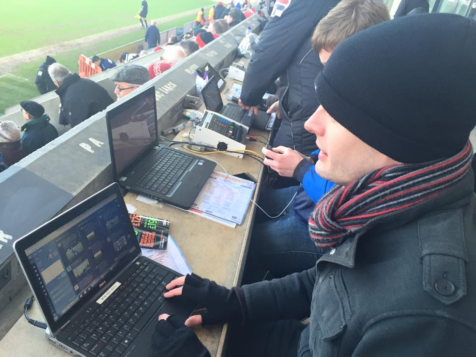 Adam Lord, pictured here, is a sports reporter but not a robot ( as far as I know) Pic by @jabberingjourno