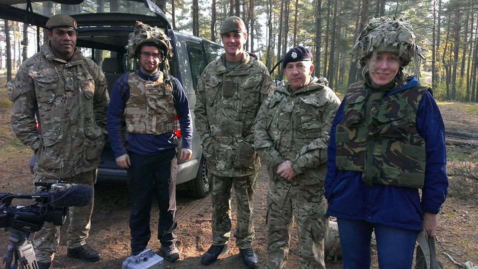 @jabberingjourno pictured right with soldiers and press in the Latvian forests