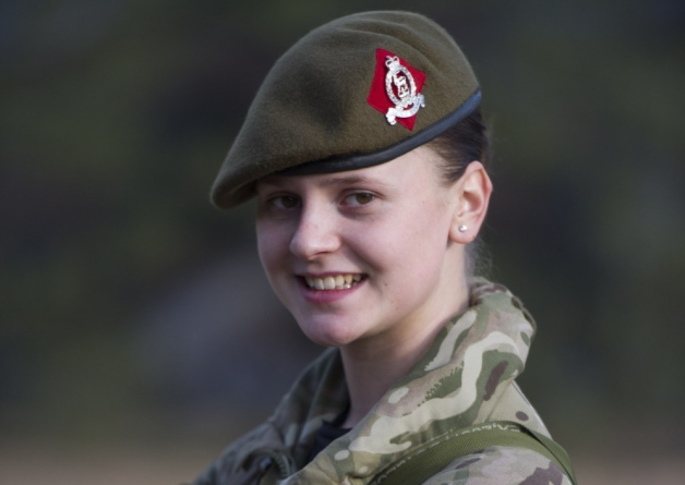 Private Rebecca Harper. Picture courtesy of and copyright of Ministry of Defence