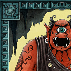 Polyphemus the Cyclops Greek Mythology Illustration © Nicola L Robinson