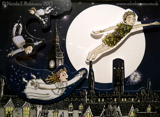 Peter Pan pop up book illustrations © Nicola L Robinson