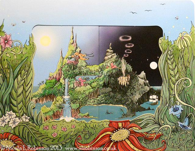 Peter Pan pop up book illustrations © Nicola L Robinson