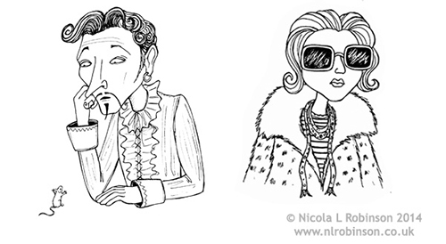 Character illustrations childrens book pen and ink © Nicola L Robinson. All rights reserved www.nlrobinson.co.uk