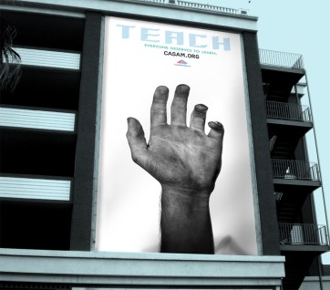 Advertising awareness campaign banner.