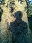 io davanti all'albero in ombra