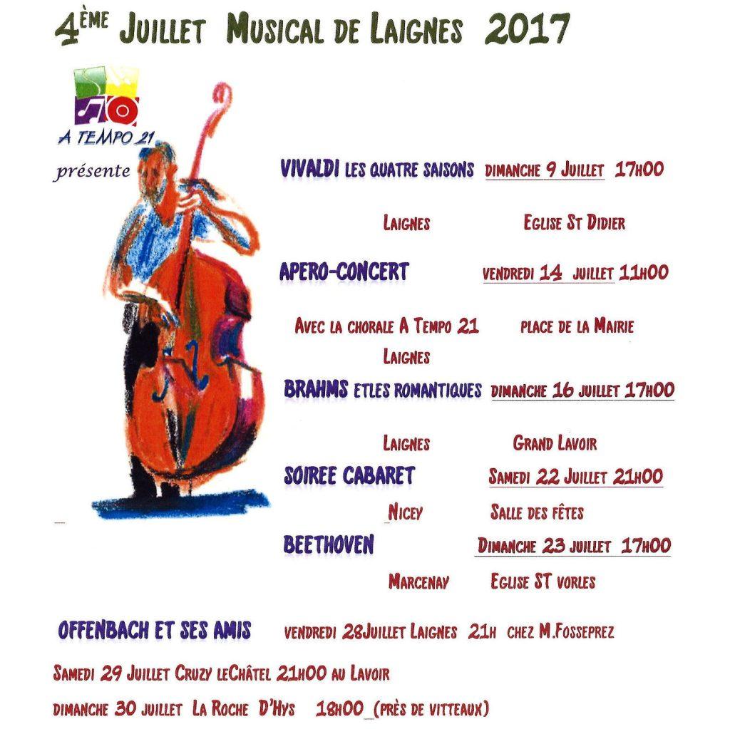 Juillet musical de Laignes