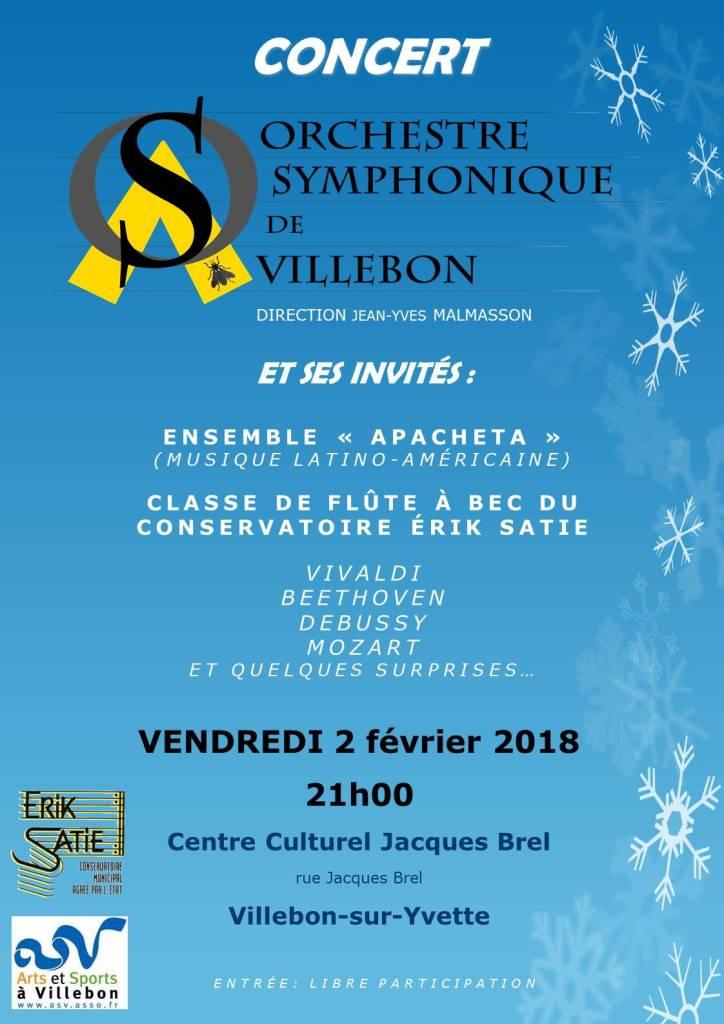 Affiche Orchestre Symphonique de Villebon