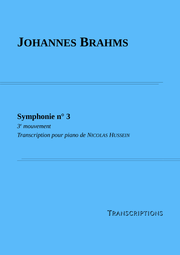 Couverture partition Brahms Symphonie n°3 3e mouvement