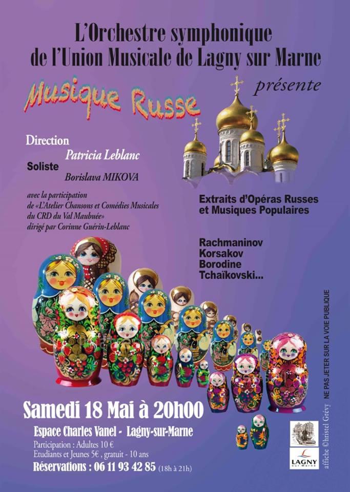 Affiche Lagny musique russe