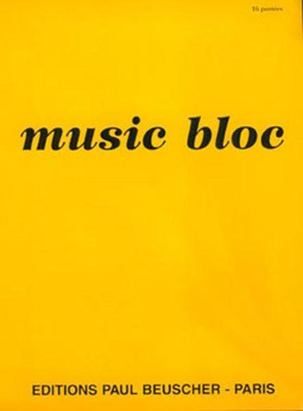 Music bloc Paul Beuscher 16 portées