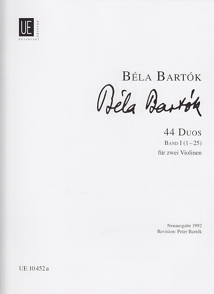 Bartok 44 duos vol 1