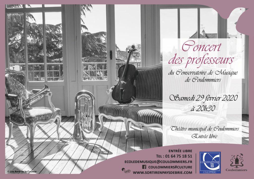 Affiche concert des professeurs Coulommiers