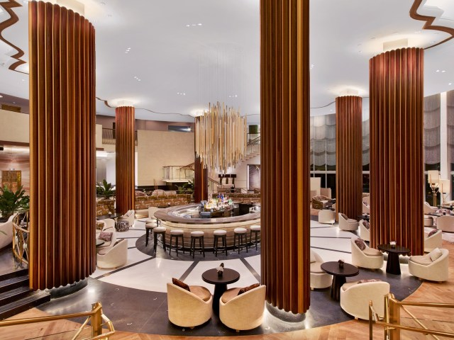 Nobu Eden Roc Lobby Lounge Wide Shot