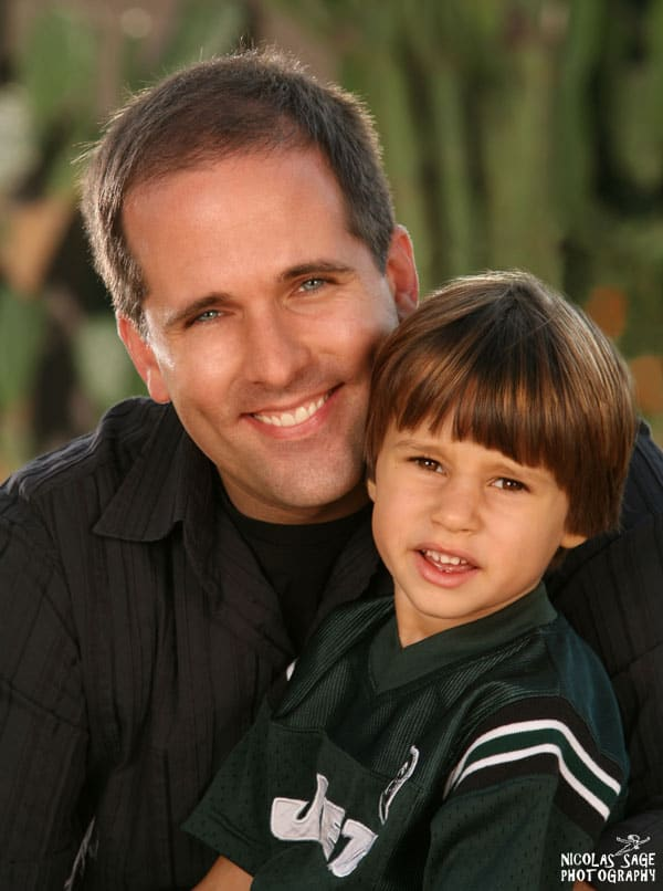 father and young son portrait
