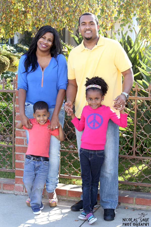 African American family portrait in West Los Angeles