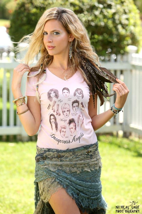 elizabeth ripps modeling dangerous angels t-shirt
