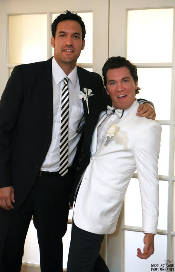 groom and best man at a wedding in san diego