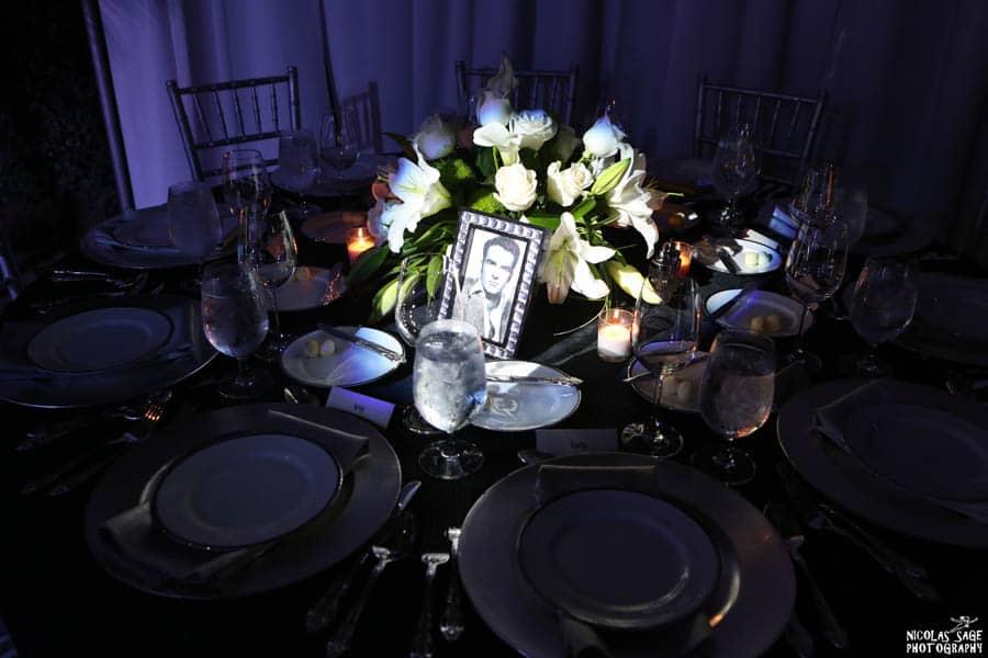 table setting for birthday dinner event
