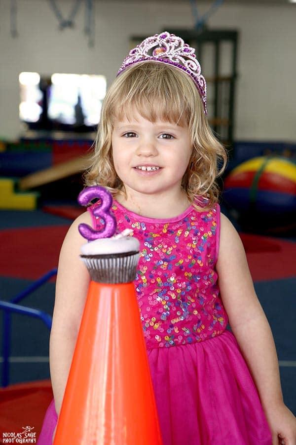 3 year old birthday girl