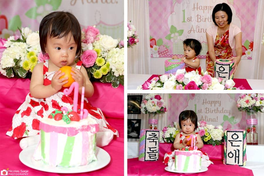 korean first birthday photographer in los angeles