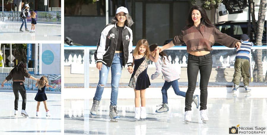 Ice skating birthday party Santa Monica