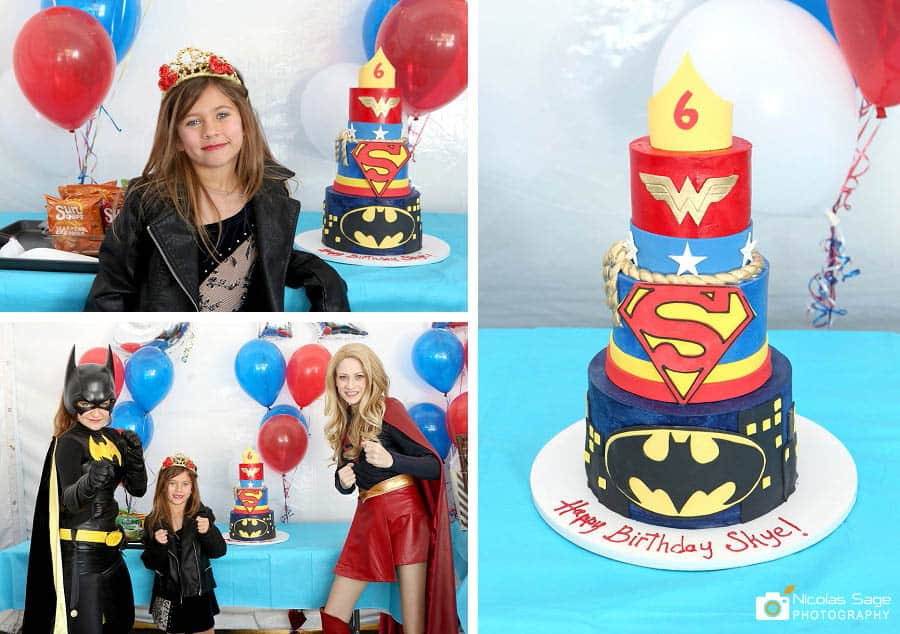 kids superhero birthday party Los Angeles