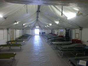 A vendor's shelter tent