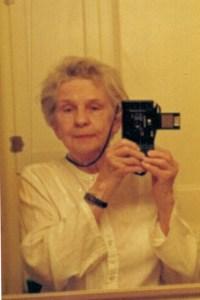 Oma selfie in mirror March 1990 (Custom)
