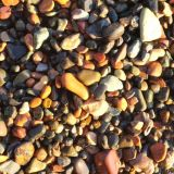 kamienky na pobreží Japonského mora