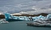 Summer in Jokulsarlon, Iceland.