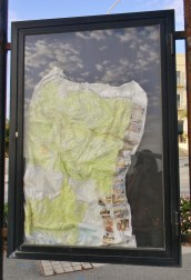 The sun apparently got so hot that it melted this tourist map!