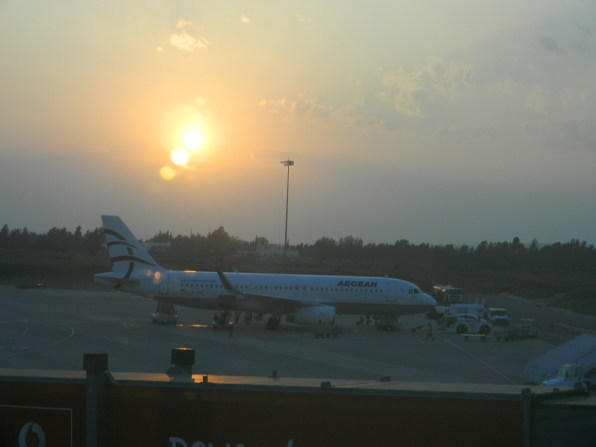 Last view of Cyprus before take-off